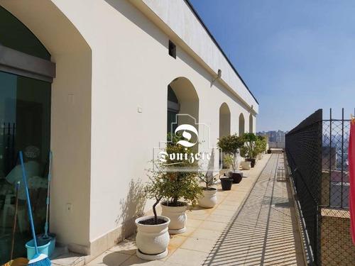Cobertura Com 3 Dormitórios À Venda, 650 M² Por R$ 1.250.000,00 - Centro - Santo André/sp - Co11356