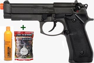 Pistola Airsoft Gbb Hfc Pt92 Beretta Blowback + Bbs 020 Gas