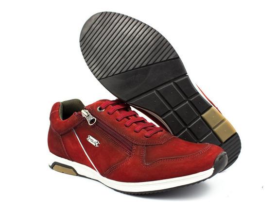 Sapatenis Tênis Casual Polo Vermelho Jogger Jogging