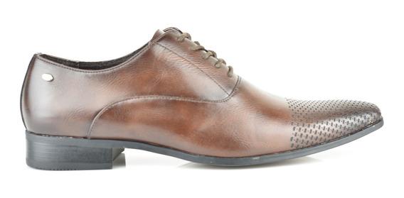 Zapatos Oxford Para Hombre Lob Footwear 578-9513 Marrón Nuevo Oi19