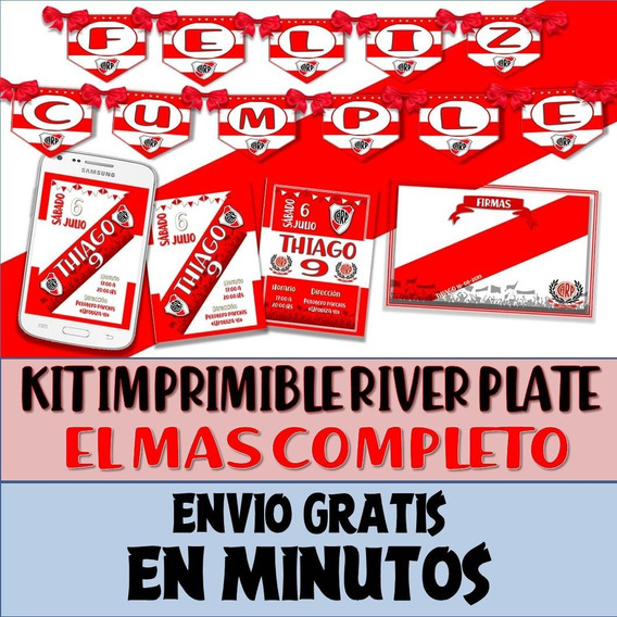 Kit Imprimible Candy Bar River Plate Libertadores Futbol