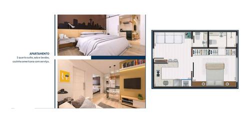 Apartamento Buritis 34m² - 1 Quarto Suite E 2 Banheiros