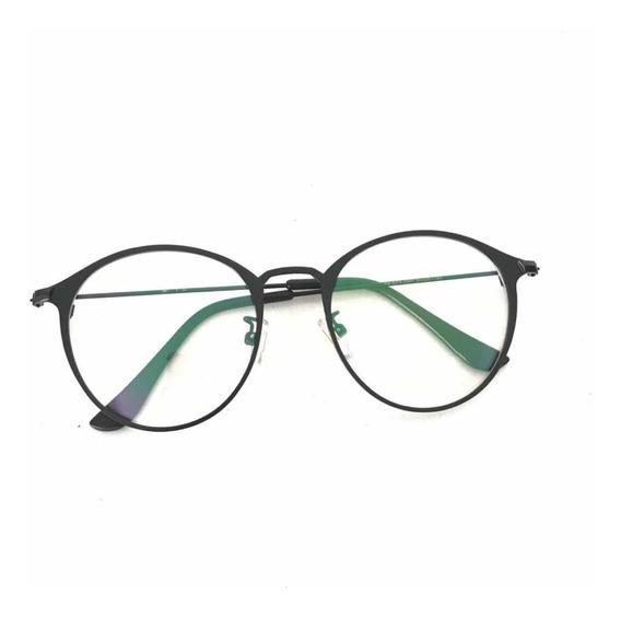 Óculos De Grau Feminino Armação Retro Vintage Metal Trend