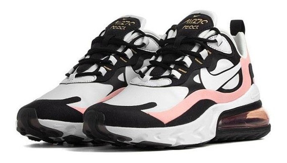 Tenis Nike Air Max 270 React Blanco, Rosa, Negro Original