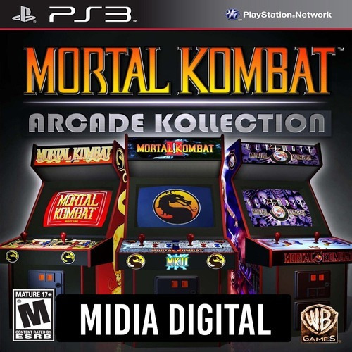 Ps3 Psn* - Mortal Kombat Arcade Kollection 1 2 & Ultimate 3