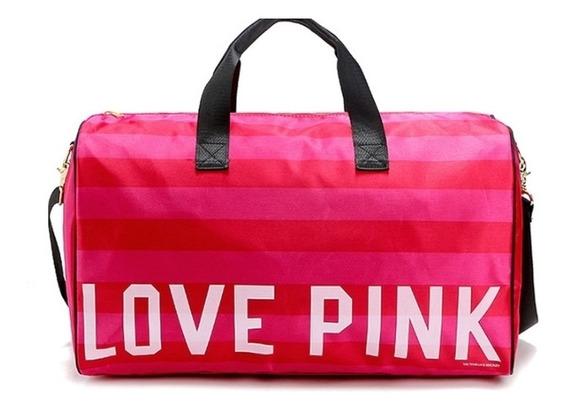 Bolso Pink,victoria Secret Deportivo O De Viaje