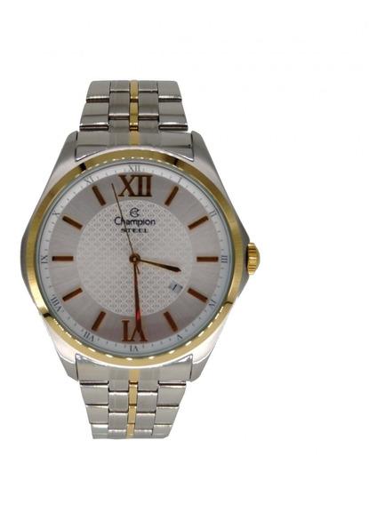Relógio Champion Masculino Dourado/prata