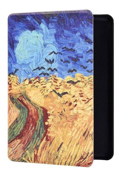 Capa Novo Kindle 10 Geração Hibernação Magnético Campo Trigo
