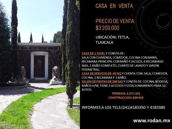 Casa Sola En Venta 1ra San Bartolomé Matlalohcan