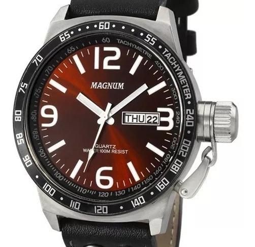 Relógio Magnum Masculino Original Ma31542z Military + Nf