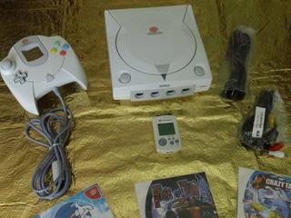 Consola Dreamcast Completa Control Memoria Y 5 Juegos Gratis
