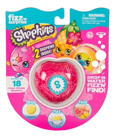 Fizz N Surprise Shopkins Figura X2 Sorpresa Jyj1908 Full