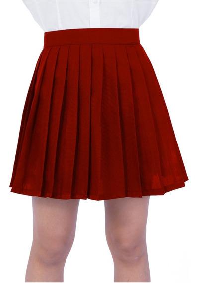 Saia Pregueadas College Várias Cores Cosplay - Preta   Cinza   Amarelo   Verde   Vermelho   Branca   Rosa ...