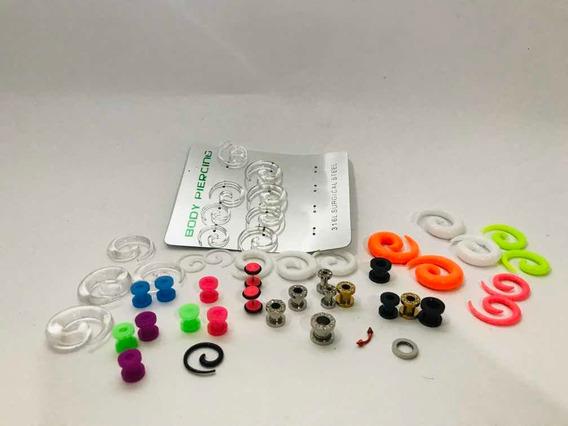 Lote De 36 Peças De Piercing De Plástico E Metal