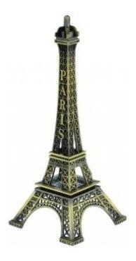Miniatura De Metal Torre Eiffel Paris França Decoração 15cm