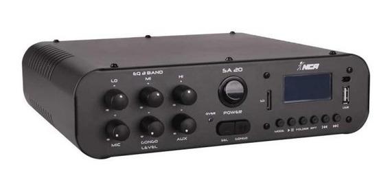 Receiver Amplificador Compacto Nca Sa20 Usb Sd Card Nca