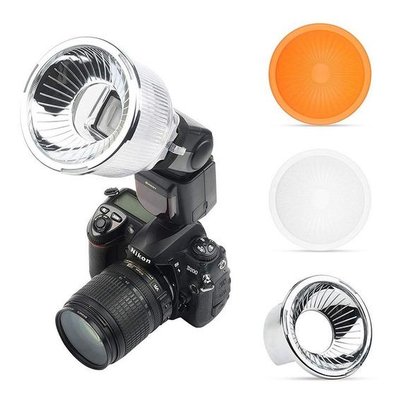 Difusor Lambency P/ Flash Com Rebatedor Cromado Original +nf