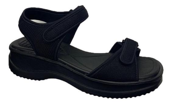 Sandália Papete Azaleia 320 Com Velcro Ortoperdica Feminino