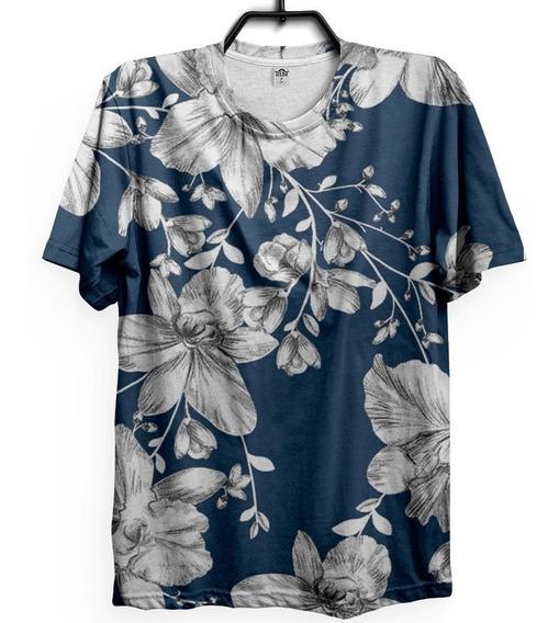 Camiseta Florida Colorida Verão Swag Mascilina Blusa Floral