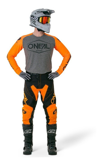 Jersey Y Pantalón Oneal Mayhem Naranja Motocross Enduro Atv