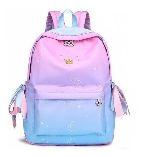 Mochila Bolsa Escolar Viagem Feminina Princesas Delicada