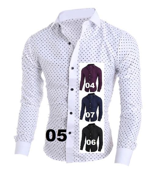 Comprando 2 Frete Grátis Camisa Social Slim Premium 4% Lycra