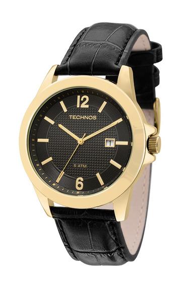 Relógio Technos Classic Steel Analógico Couro 2115kno/2p