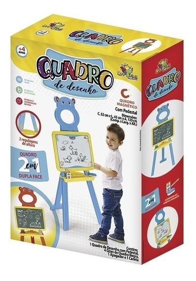 Lousa Infantil 2em1 Quadro Didático Escrever Desenhar Pintar