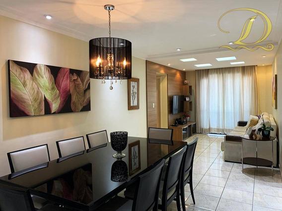 Apartamento De 03 Quartos, Sendo 01 Suíte, Vista Mar, Todo Mobiliado Na Vila Guilhermina, Aceita Financiamento Bancário!!! - Ap3415