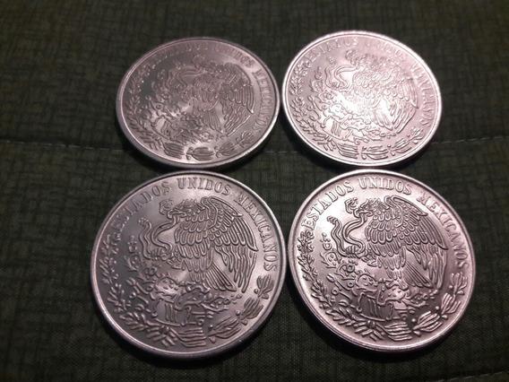 Lote De 2 Monedas De 100 Pesos Plata Pura Ley 720