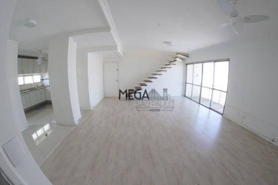 Cobertura Para Alugar, 230 M² Por R$ 6.500/mês - Campo Belo - São Paulo/sp - Co0007