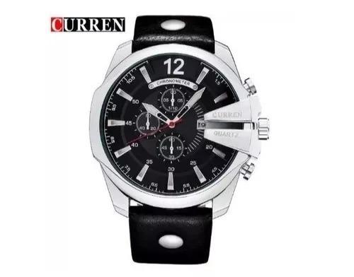 Relógio Masculino Curren 8176 Pulseira De Couro