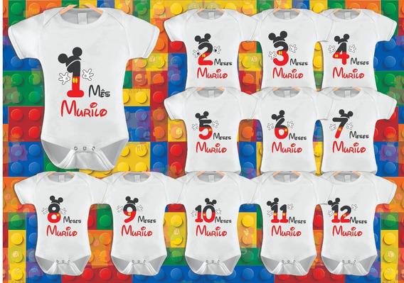 Mickey Mouse Body Mêsversário Kit 12unid.