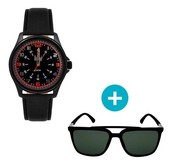 Relógio Dumont Masculino Analógico, Caixa 4,2cm, Preto, Puls