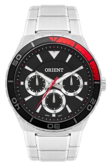 Relógio Orient Masculino Aço Preto /vermelho 35007