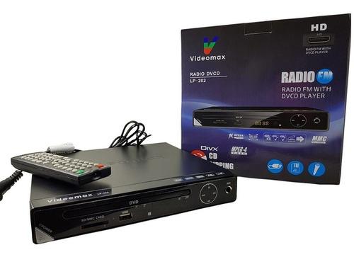 Imagen 1 de 4 de Reproductor Dvcd Con Radio Fm Player Lp-202 Control Remoto M