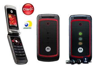 Motorola Flip W396,2 G Raro, Só Pega Claro, Entrada Antena, Novo Na Caixa Anatel, Cartão 1gb, Visor Externo