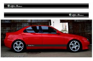 Adesivo Emblema Faixa Alfa Romeo 156 Lateral Imp5