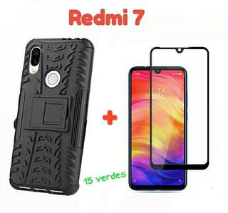 Forro Xiaomi Redmi 7 + Vidrio (( 10 Vrdes ))