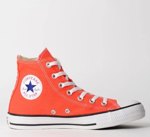 Tênis Converse All Star Laranja Cano Alto Ct04190032