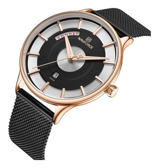 Relógio Masculino Naviforce Social Luxo Lançamento Original