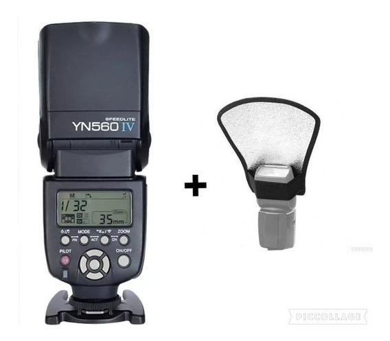 Flash Yongnuo Yn560iv P/canon E Nikon E Sony+rebatedor C/nf