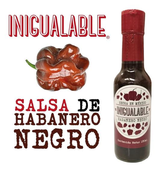 Habanero Negro - Salsa Inigualable 1 Pieza Mariscos Pet 180