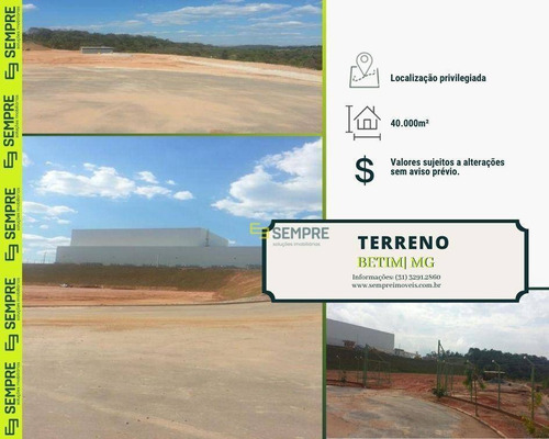 Imagem 1 de 16 de Área Industrial À Venda, 40.000 M² - Betim/mg - Te0004