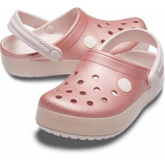 Zapato Crocs Niña Crocband Ice Pop Clog Rosa