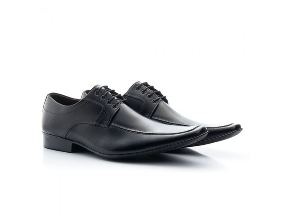 Sapato Social Masculino Couro De Amarrar 400 - Frete Grátis