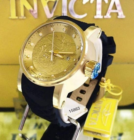 Relógio Invicta Dragon Yakuza S1, Preto, Frete Grátis, 12x