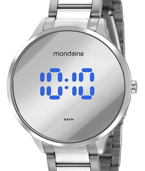Relógio Mondaine Redondo Digital Prateado 32060l0mvne4 C/nfe
