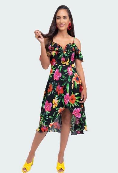 Vestido Multicolor 027-250 Terra Primavera-verano 2020