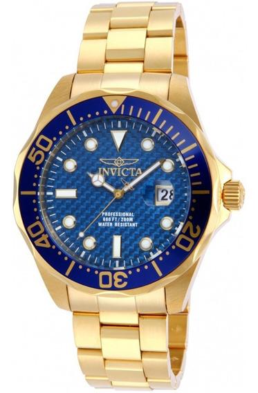 Relógio Invicta Pulseira Dourada 14357 Banhado A Ouro 18k